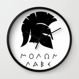 molon labe sparta Wall Clock