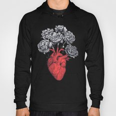 Heart with peonies Hoody