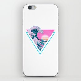 Vaporwave Aesthetic 90's Great Wave Off Kanagawa iPhone Skin
