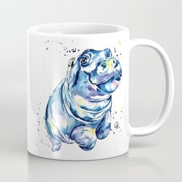 Hippo Colorful Watercolor Hippo Painting - Grace Coffee Mug