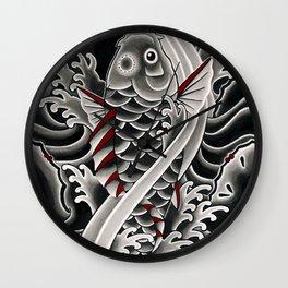 Japanese tattoo style Koi Wall Clock
