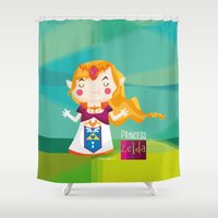 zelda Shower Curtains featuring Zelda by suupergirl
