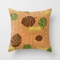 Tiki Bar Wallpaper Pattern Throw Pillow