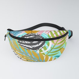 abstract palm leaves Fanny Pack