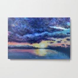 Sunset Serenity Landscape Metal Print