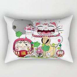 Maneki-neko in the magical world Rectangular Pillow