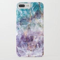 Turquoise & Purple Quartz Crystal Slim Case iPhone 7 Plus