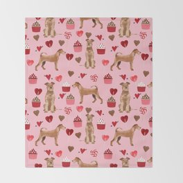 Irish Terrier dog breed valentines day love hearts pet gifts must have terriers Throw Blanket