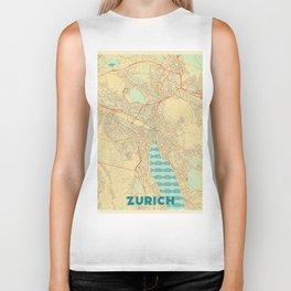 Zurich Map Retro Biker Tank