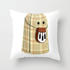 Plaid ghost Throw Pillow