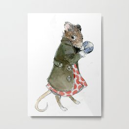 Ms. Mouse Metal Print