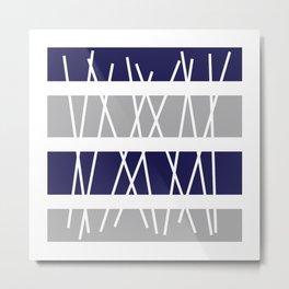 """Geometric Print """"Sticks"""" Metal Print"""