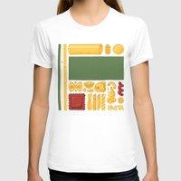 mondrian T-shirts featuring Pasta Mondrian by Chayground