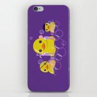 bathroom iPhone & iPod Skins featuring DANGERS OF THE BATHROOM by ketizoloto