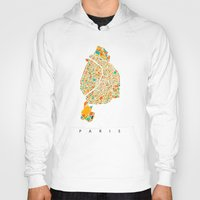 paris map Hoodies featuring Paris by Nicksman