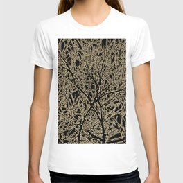 Tangled Tree Branches in Black and Sepia T-shirt