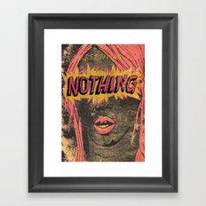 Presenting NOTHING Framed Art Print