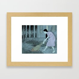 Clean Up Framed Art Print