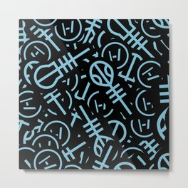 TØP Stickers - Original Logo Blue Metal Print