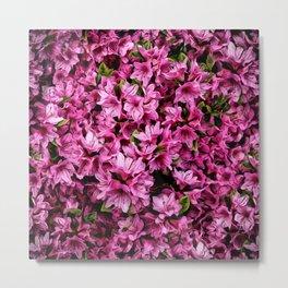 Azalea In Bloom Pattern Metal Print
