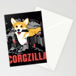 CORGZILLA Stationery Cards