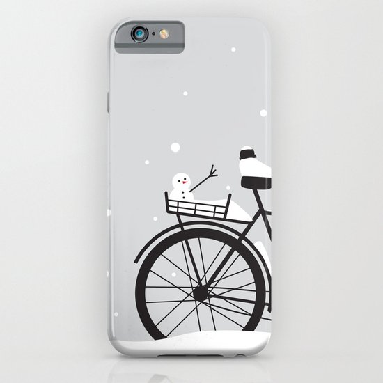Bicycle & snow iPhone & iPod Case