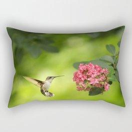 Hummer in Flight Rectangular Pillow