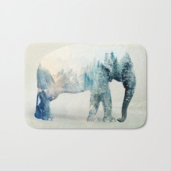 Vanishing Elephant  Bath Mat