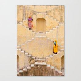 Amber Stepwell II, Rajasthan, India Canvas Print