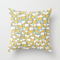 beer Throw Pillows featuring Beer! by Chris Hoffmann Design