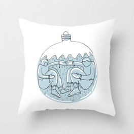 Let's Get Snowed In Throw Pillow