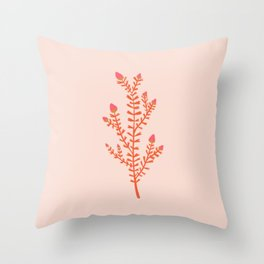 leaf hearts Throw Pillow
