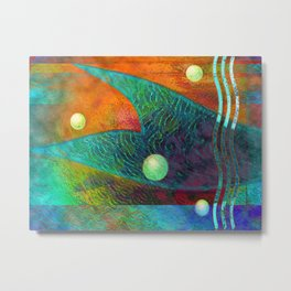 Colorful Mermaid Tail Horizontal Metal Print
