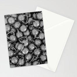 Kettlebells B&W Stationery Cards