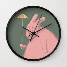Sad Bunny  Wall Clock