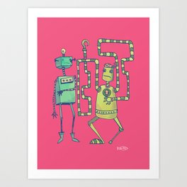 Robo Pirates! Art Print