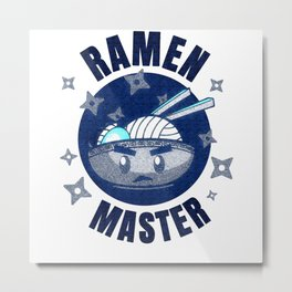 Japanese Ramen Hoodie Gift Metal Print