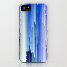 Frozen blue waterfall abstract digital painting iPhone Case