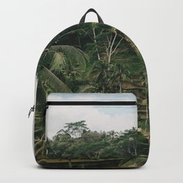 Bali Tegalalang Indonesia - Palm Trees - Rice Fields - Mountain Travel Photography Backpack