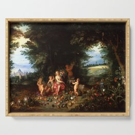 Jan Brueghel the Younger Hendrik van Balen Landscape with Ceres (Allegory of Earth) Serving Tray