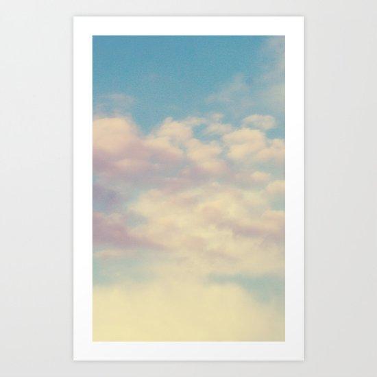 Cotton Candy Fields Art Print