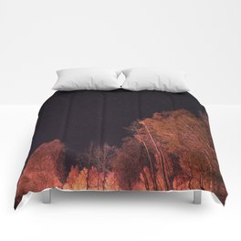 Firey woods Comforters
