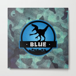 Velociraptor Squad: Blue Team Metal Print