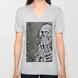Skeleton Thinking Unisex V-Neck