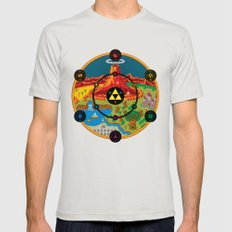 Hyrule Macrocosmica Mens Fitted Tee SMALL Silver