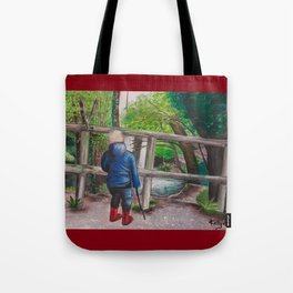Every Moment Imagining Rainbows Tote Bag