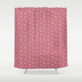 Pangnupark Hippo Bear Indian Red Shower Curtain