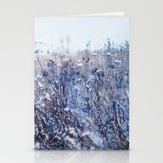 Winter Field 3 Stationery Cards