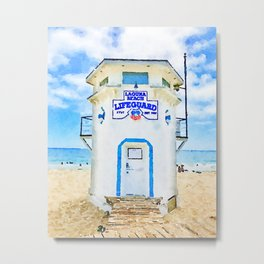 Laguna Beach Lifeguard Stand Metal Print
