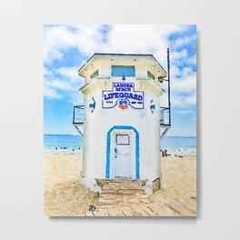 Laguna Beach Lifeguard Stand Metal Print